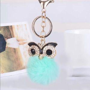 Green Owl Keychain